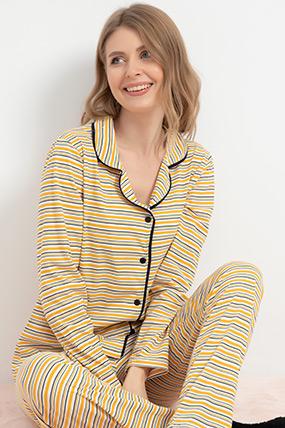 Düğmeli Pijama Takımı-41035113758