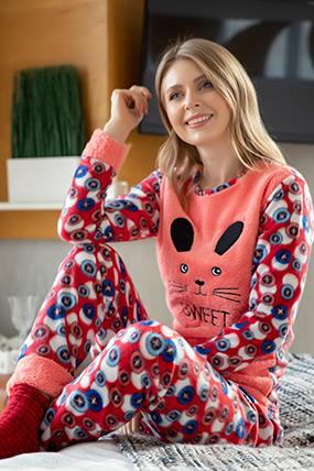 Peluş Pijama Takımı-41035114004
