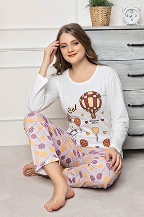 Baskılı Pijama Takımı-41035114346
