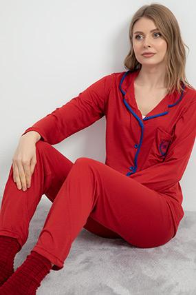 Düğmeli Pijama Takımı-41035114688