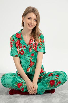 Çiçekli Pijama Takımı-41035115817