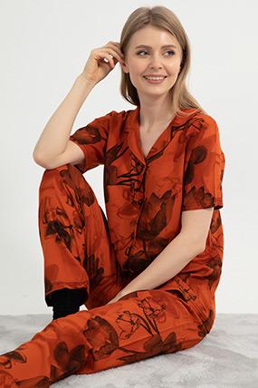 Düğmeli Pijama Takımı-41035115830