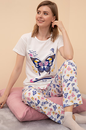 Kısa Kol Pijama Takımı-41035145098