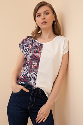 Desenli T-shirt-41035145668