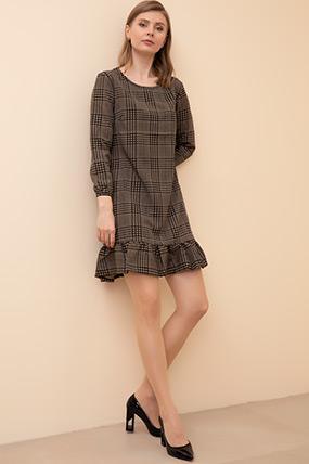 Ekose Piliseli Elbise-41035145823