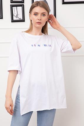 Baskılı Duble Kol T-shirt-41035146392