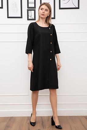 Düğme Detay Büyük Beden Elbise-41035146593