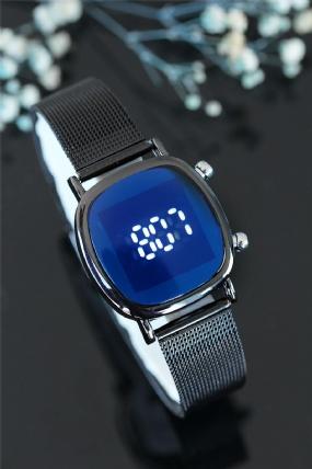 Siyah Renk Hasır Kordonlu Kadın Saat-