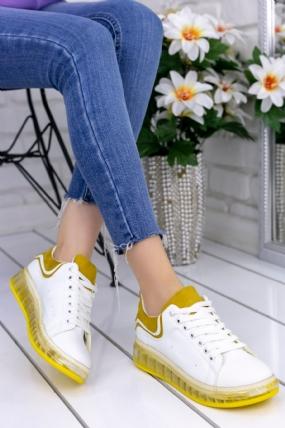 Lumi Beyaz Cilt Sarı Tabanlı Spor Ayakkabı-7374