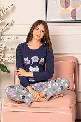 Uzun Kol Pijama Takımı-41035077159