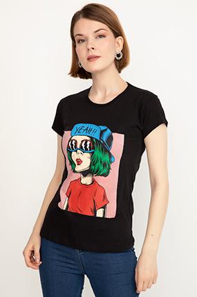 Baskılı Kısa Kol T-shirt-41035087838