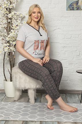 Baskılı Kısa Kol Pijama Takımı-41035088730