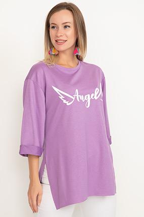 Duble Kol Yırtmaçlı T-shirt-41035099204
