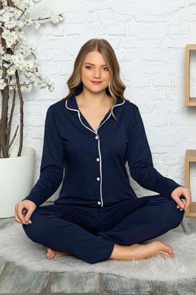 Düğmeli Pijama Takımı-41035109925