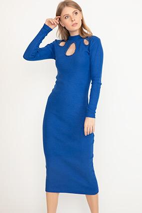 Damla Yaka Elbise-5002642510