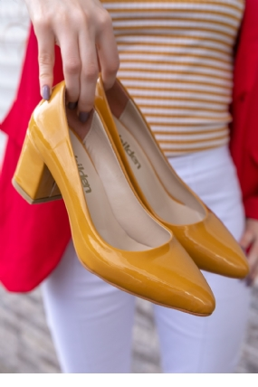 Lehisa Hardal Rugan Topuklu Ayakkabı-6734