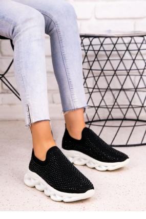 Vicki Siyah Boncuklu Beyaz Tabanlı Spor Ayakkabı-7332