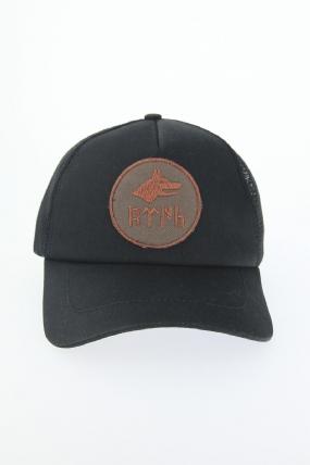 Siyah Renk Bozkurt Tasarım Şapka-SPK113