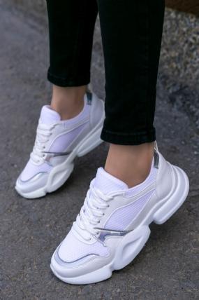 Malinda Beyaz Cilt Spor Ayakkabı-7461