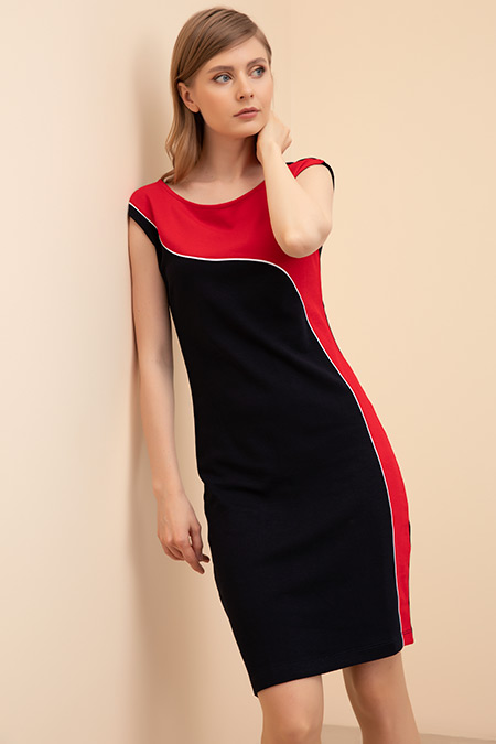 Şeritli Elbise-41035143405