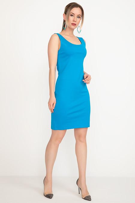 Kalın Askılı Yırtmaçlı Elbise-41035036568