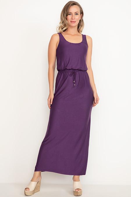 Bel Lastikli Kalın Askılı Elbise-41035082556
