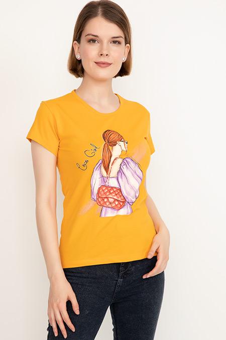 Baskılı Sıfır Yaka T-shirt-41035088254