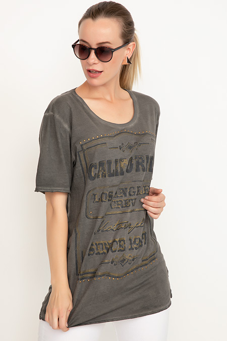 Baskılı T-shirt-41035090231