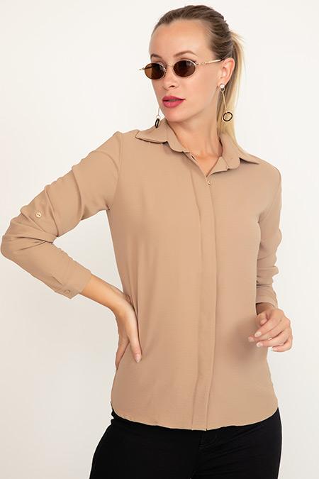 Yakalı Patlı Gömlek-41035096509