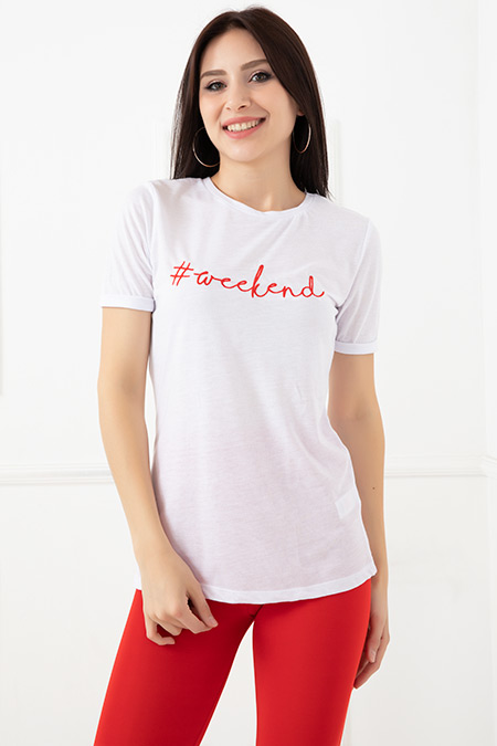 Baskılı T-Shirt-5593243087