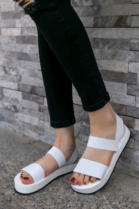 Macle Beyaz Sandalet-7468