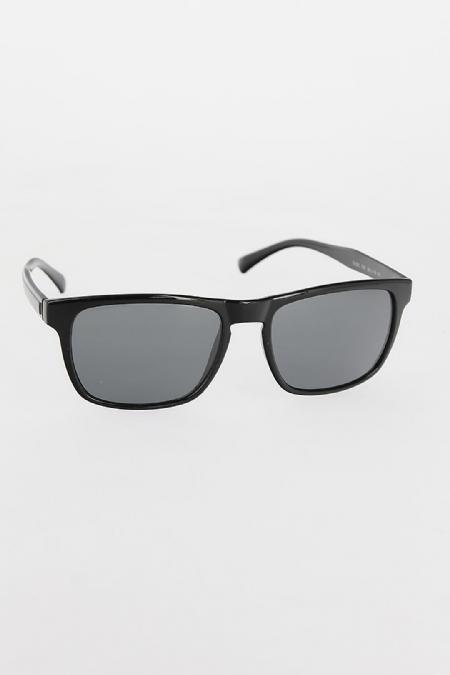 Siyah Çerçeveli Koyu Gri Camlı Erkek Güneş Gözlüğü-EG605-KS