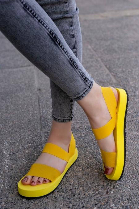Macle Sarı Sandalet-7503