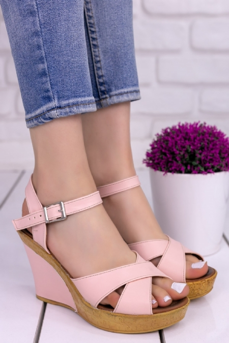 Cleo Pudra Cilt Dolgu Topuklu Ayakkabı-6808