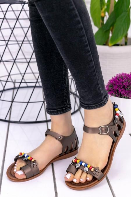 Rubye Platin Cilt Sandalet-6704
