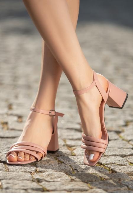 Larix Pudra Cilt Topuklu Ayakkabı-12313