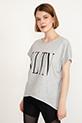 Baskılı T-shirt / Gri