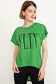 Baskılı T-shirt / Yeşil