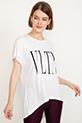 Baskılı T-shirt / Beyaz