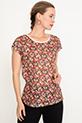 Baskılı T-shirt / Bordo