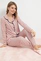Düğmeli Pijama Takımı / Somon