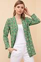 Desenli Şal Yaka Ceket / Yeşil