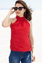 Yakası Fırfırlı Bluz / Kırmızı