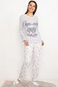 Baskılı Pijama Takımı / Gri-Beyaz