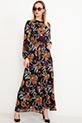 Kuşaklı Şifon Elbise / Siyah