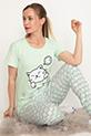 Kısa Kol Pijama Takımı / Mint