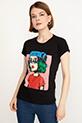 Baskılı Kısa Kol T-shirt / Siyah