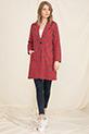 Uzun Ekose Ceket / Kırmızı
