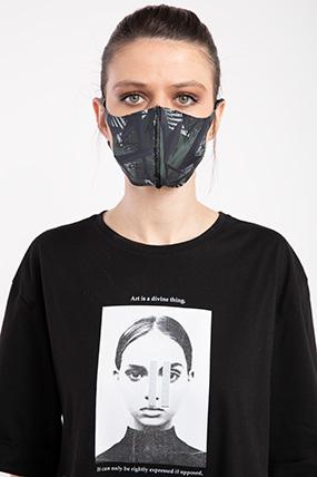 Baskılı Esnek Maske-P-017120