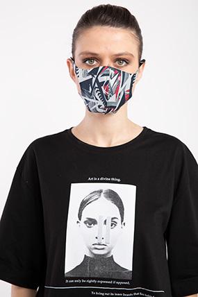 Baskılı Esnek Maske-P-017124